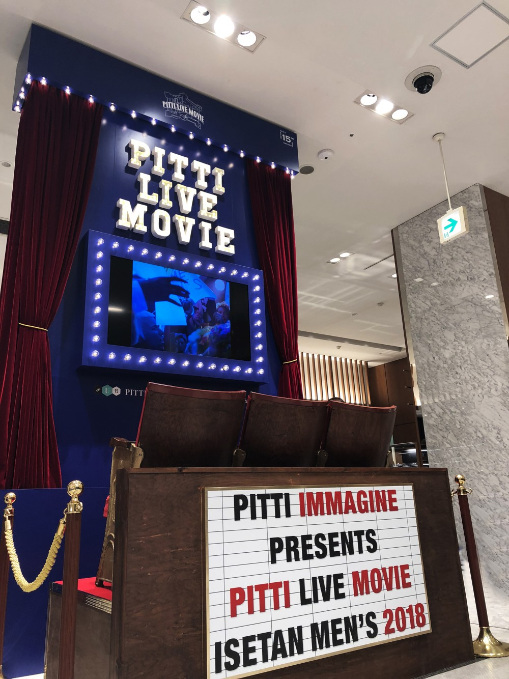 "PITTI IMMAGINE UOMO 93 ""PITTI LIVE MOVIE"" at ISETAN MEN'S"